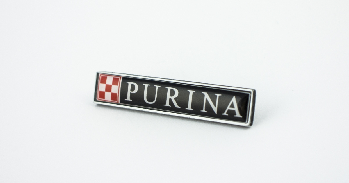 Advertising lapel pin