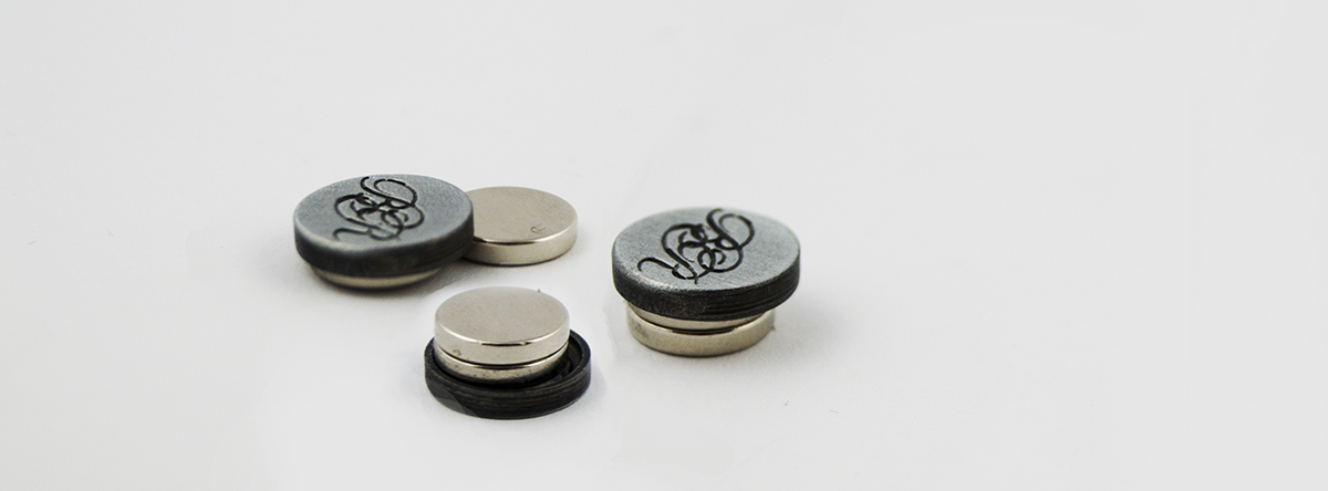 Magnetic badge pins