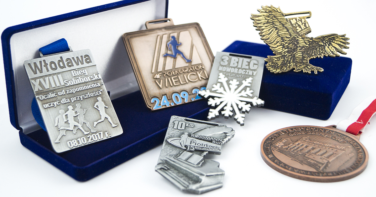 Different types of sports medals