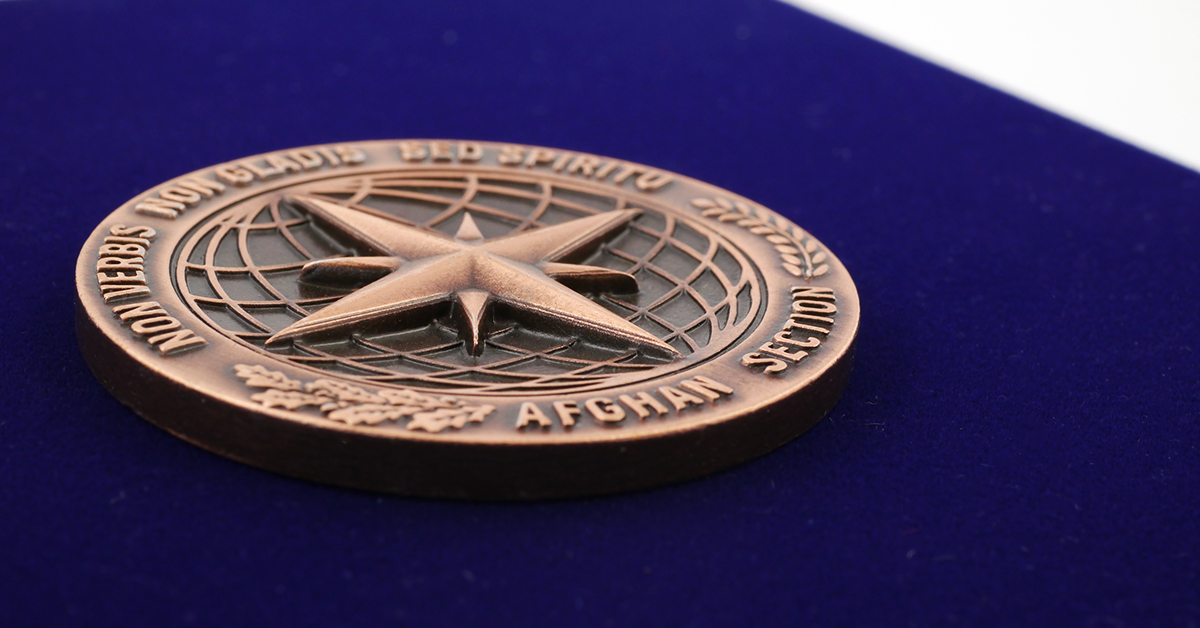 Medal casted by MCC Metal Casts in 3D technique
