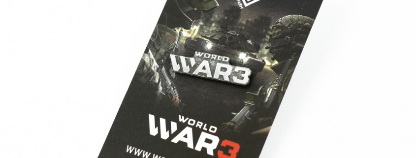 World War 3 - Pins on card
