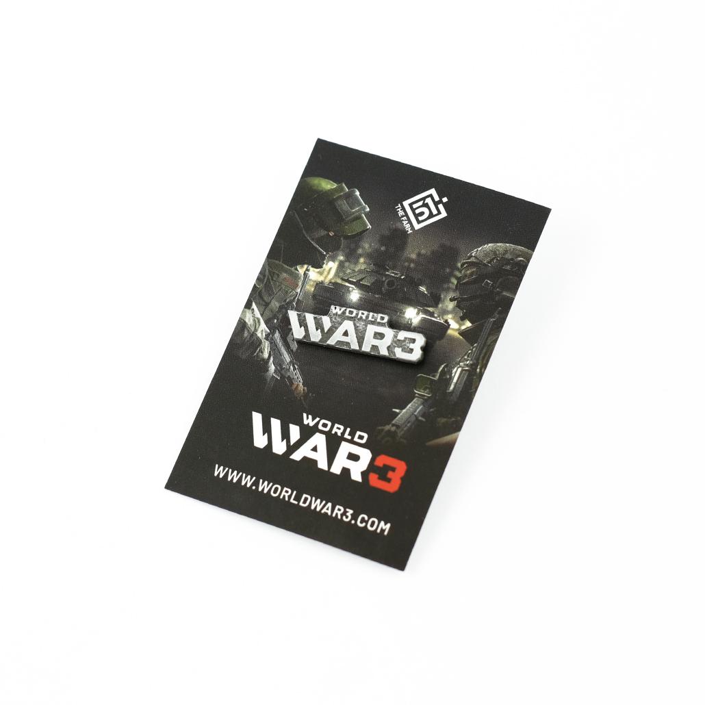 World War 3 - Pins on card