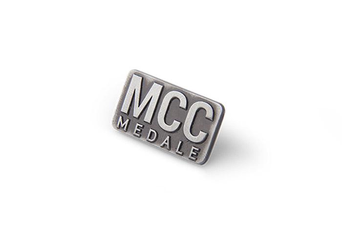 MCC Medale metal pin
