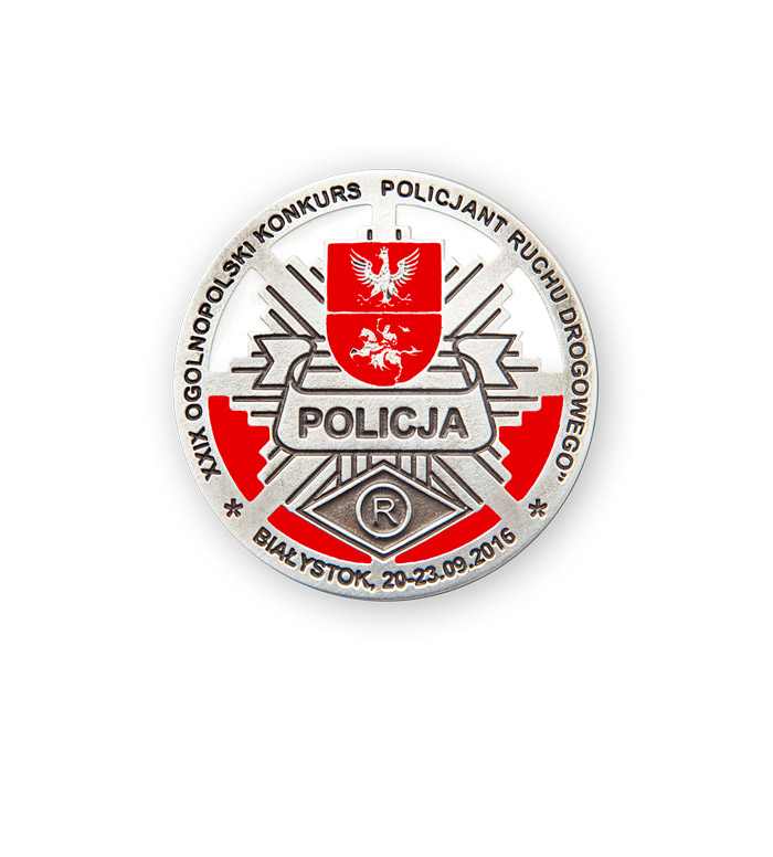 Enameled medal for Polish Police