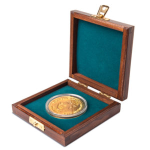 Wooden Case and Coin Capsule